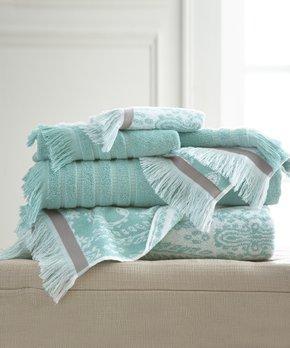 Amrapur Overseas | Aqua Jaipur Six-Piece Towel Set