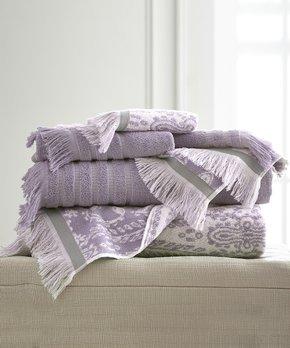 Amrapur Overseas | Gray Lavender Jaipur Six-Piece Towel Set