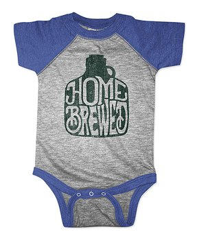 American Classics | Vintage Royal & Gray 'Home Brewed' Raglan Bodysuit – Infant