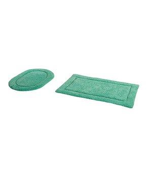 Amrapur Overseas | Sage & Ivory Fleur Swirl-Embroidery Six-Piece Towel Set