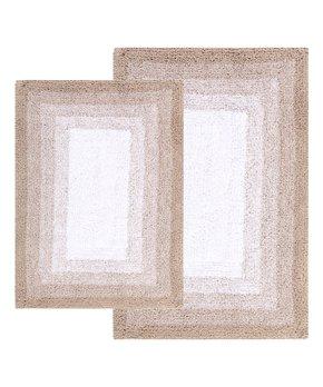 Amrapur Overseas   White & Gray Fleur Swirl-Embroidery Six-Piece Towel Set