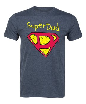 Heather Blue 'Super Dad' Tee – Men