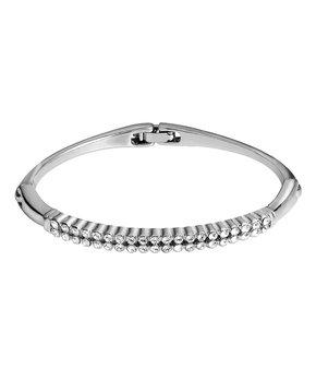 MESTIGE   Silvertone Twin Roads Bracelet With Swarovski® Crystals