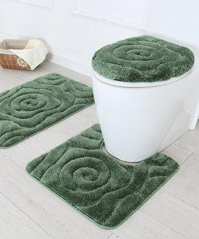 Affinity Linens | Aqua Blue Plush Bath Rug - Set of Six