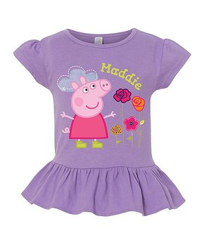 640785489 Peppa Pig Aqua Doodles Personalized Tee - Toddler & Girls · all gone