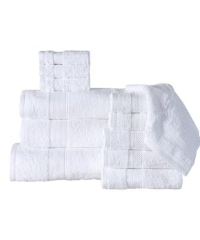 Affinity Home | White 12-Piece Towel Set
