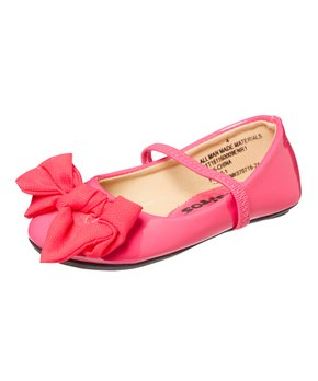 Ositos Shoes | Red Strap Quilted Ballet Flat - Girls