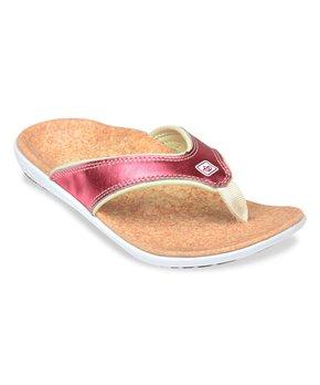 Spenco  | Salmon Metallic Yumi Flip-Flop - Women