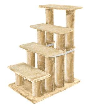 Cream Four Step Pet Stair