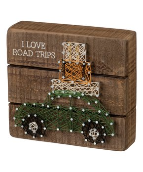 Primitives by Kathy | 'Love and a Dog' Heart String Art Block Sign