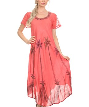 Coral Dresses for Women
