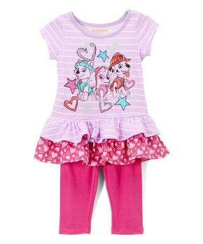 172419af55df6 PAW Patrol Stripe Ruffle Tunic & Leggings - Infant & Toddler