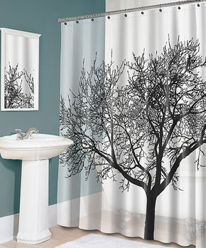 Splash Home | Black Tree Shower Curtain