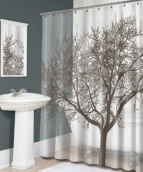 Affinity Home | Navy Stripe Elegance Spa Cotton Memory Foam Bath Rug Set