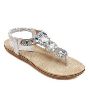 Siketu   Silver Rhinestone Sandal – Women