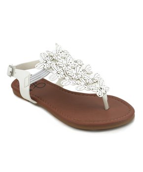 Olivia Miller Girl | White Butterfly Zinnia Sandal...