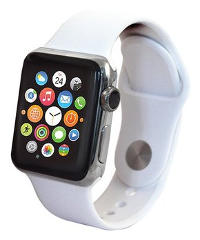 Apple | Refurbished Silver & White Band 38-MM Watch Series 1