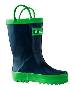 d197355985 Navy Blue   Green Rain Boot - Kids