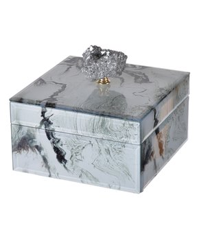 A&B Home | 6'' Gray Marbled Jewelry Box