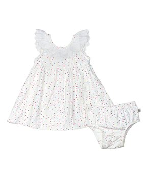 75d0e4ef1 Rosie Pope Baby | White Dot Dress & Diaper Cover - Infant