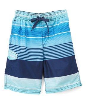 9113460df0 Kanu Surf | Navy Echelon Stripe Boardshorts - Boys
