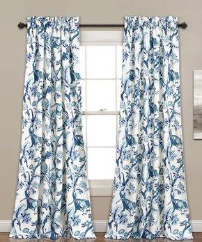 Lush Décor | Blue Dolores Blackout Curtain Panel - Set of Two