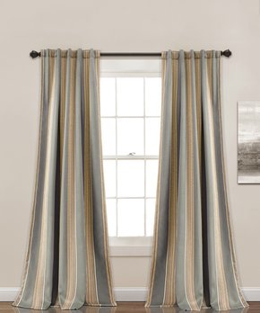 Lush Décor | Red Julia Curtain Panel - Set of Two