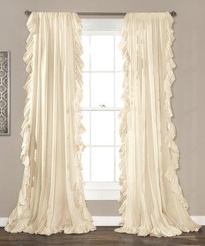 Lush Décor | White Lily Window Curtain Panel