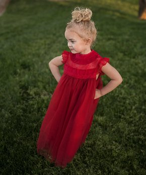 aabc7222f379 ... Dress - Toddler & Girls. all gone. Just Couture | Scarlet Ruffle  Magnolia ...