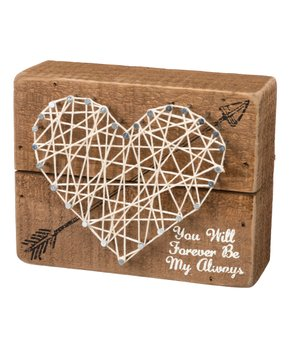 Primitives by Kathy | 'I Love Us' String Art Block Sign