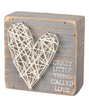 Primitives by Kathy | 'Thing Called Love' String Art Wood Box Sign