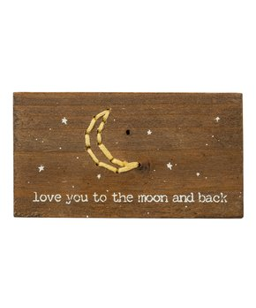 Primitives by Kathy | 'To The Moon and Back' Stitched Sign