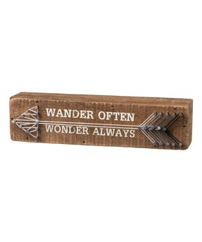 Primitives by Kathy | 'Wonder Often' String Art Block Sign