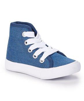 Adorababy Baby Girls Blue Floral Sneaker