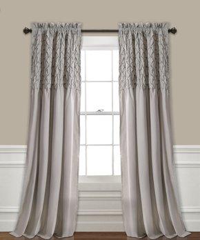 Lush Décor | Gray Medallion Room-Darkening Curtain Panel - Set of Two