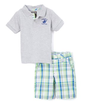 0f0803c7dc Beverly Hills Polo Club | Red Polo & Plaid Shorts - Infant. all gone