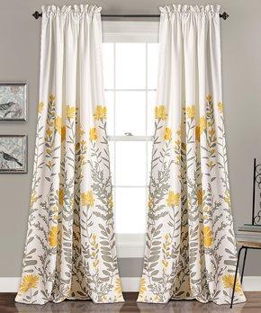 Lush Décor | Aprile Room-Darkening Window Curtain Panel - Set of Two