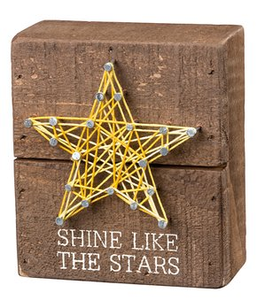Primitives by Kathy | 'Shine Like Stars' String Art Box Sign