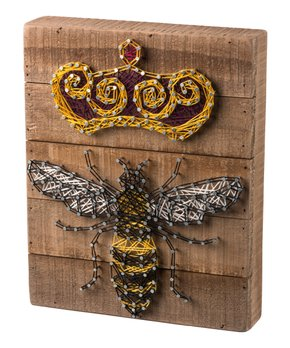 Primitives by Kathy | Queen Bee String Art Block Sign