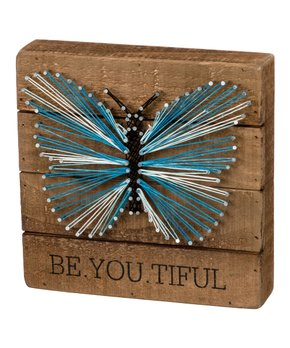 Primitives by Kathy | 'Be.YOU.tiful' String Art Block Sign