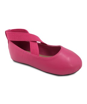 Ositos Shoes | Fuchsia Bow Strap-Accent Flat - Girls