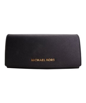 8a2cd2510272 Michael Kors | Black Jet Set Leather Travel Clutch