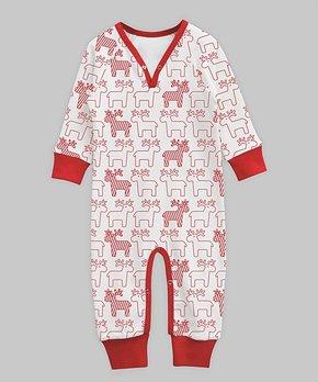 8dc9caefac561 all gone. A.T.U.N. | White-Red Reindeer Print Playsuit - Newborn ...
