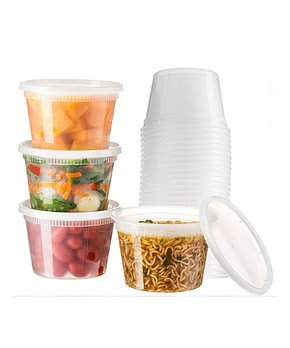 Glomery | Round 16-Oz. Food Container - Set of 25