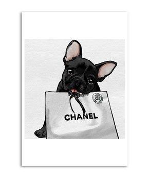 Oliver Gal | Frenchie Glam White Bag Print