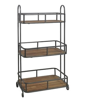 Cheung's Rattan Imports | Wood & Metal Three-Tier Shelf