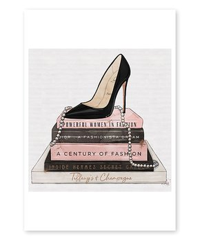 Oliver Gal | Silhouette of a Lady Art Print