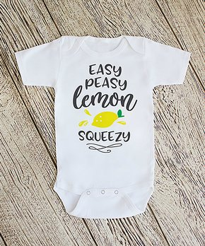 db16a424e Love you a Latte Shop | White 'Easy Peasy Lemon Squeezy' Bodysuit - N… shop  now