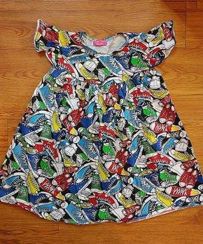 1714eca629170 Ava Grace Boutique   Red & Blue Sneaker Tunic Dress - Infant
