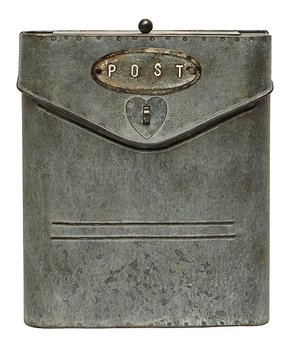 ZiaBella | 9.25'' Weathered Steel Postal Box